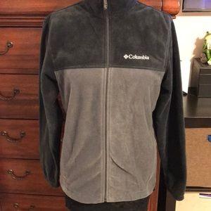 Columbia Micro fleece Zipper Gray Sweater. Size S